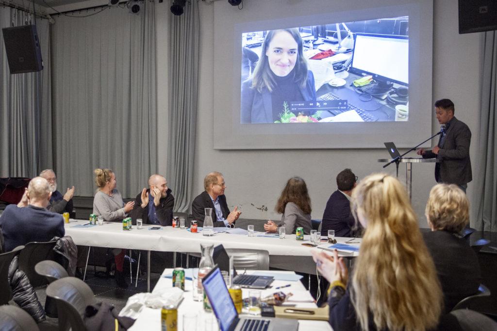 Astrid Søndberg fra TV2 vinder af Simmel-Prisen / Foto: Anette Sønderby Madsen