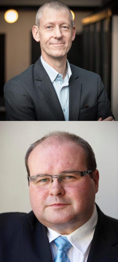 Chefredaktør Steen Trolle og pressechef Søren Søndergaard, DF / Fotos: Privat