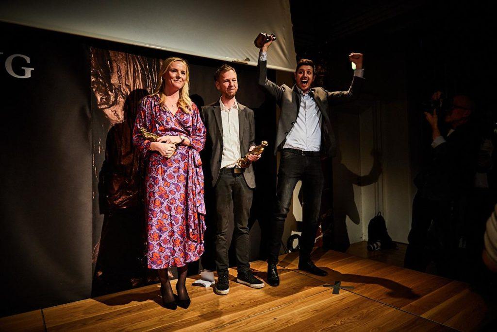 Journalisterne Eva Jung, Simon Bendtsen og Michael Lund fra Berlingske, Foto: Jonas Pryner Andersen
