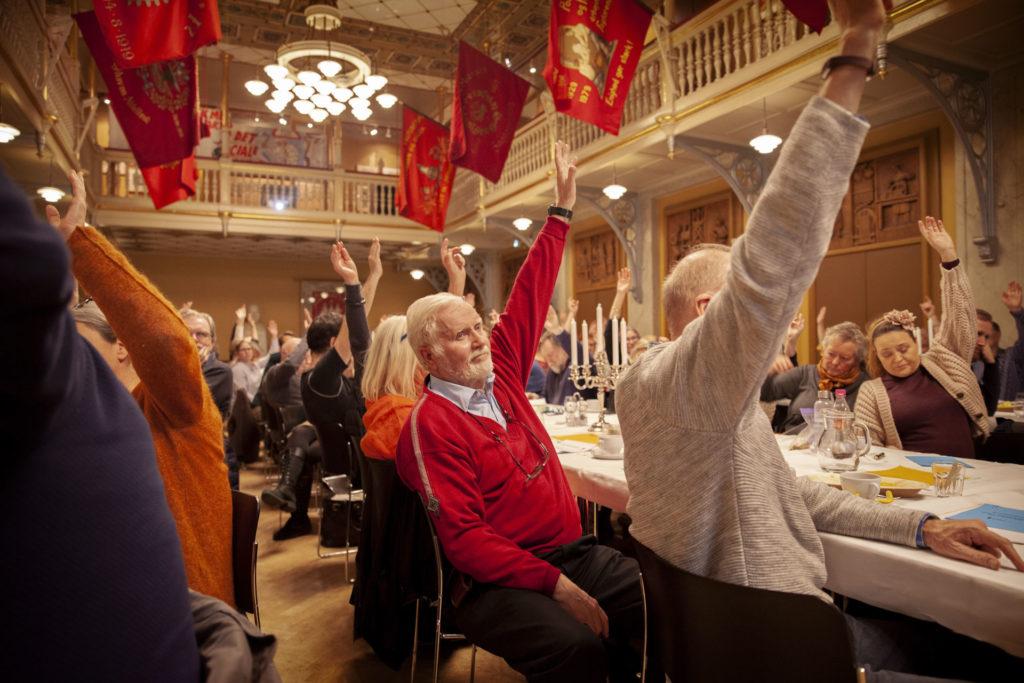 Formandens beretning blev sat til debat og herefter godkendt. Foto: Anette Sønderby Madsen