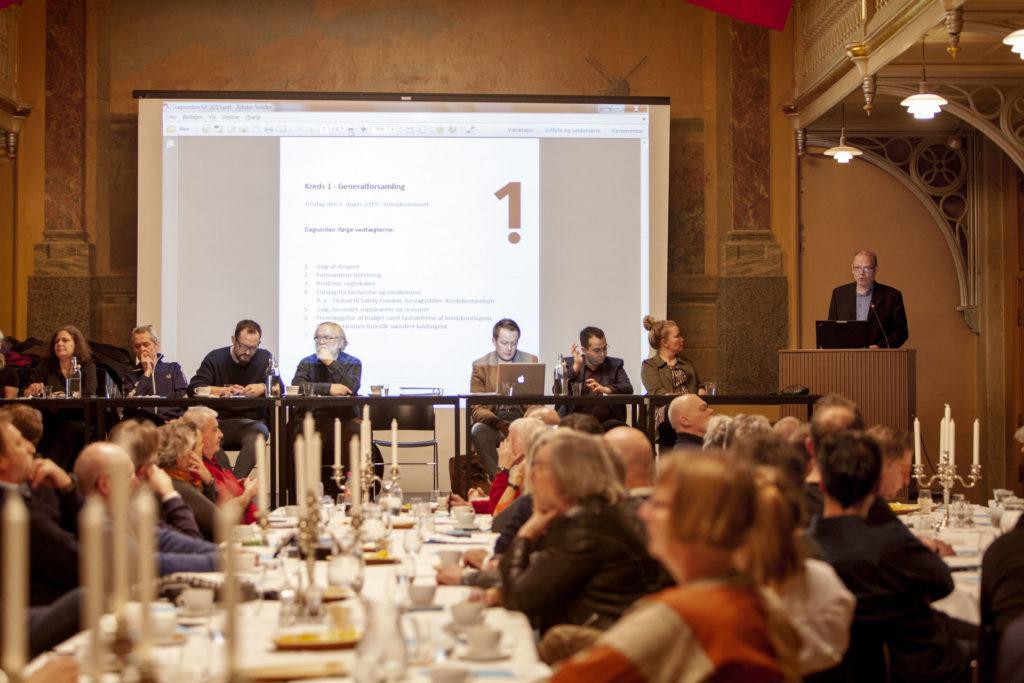 Formanden aflægger beretningen. Foto: Anette Sønderby Madsen