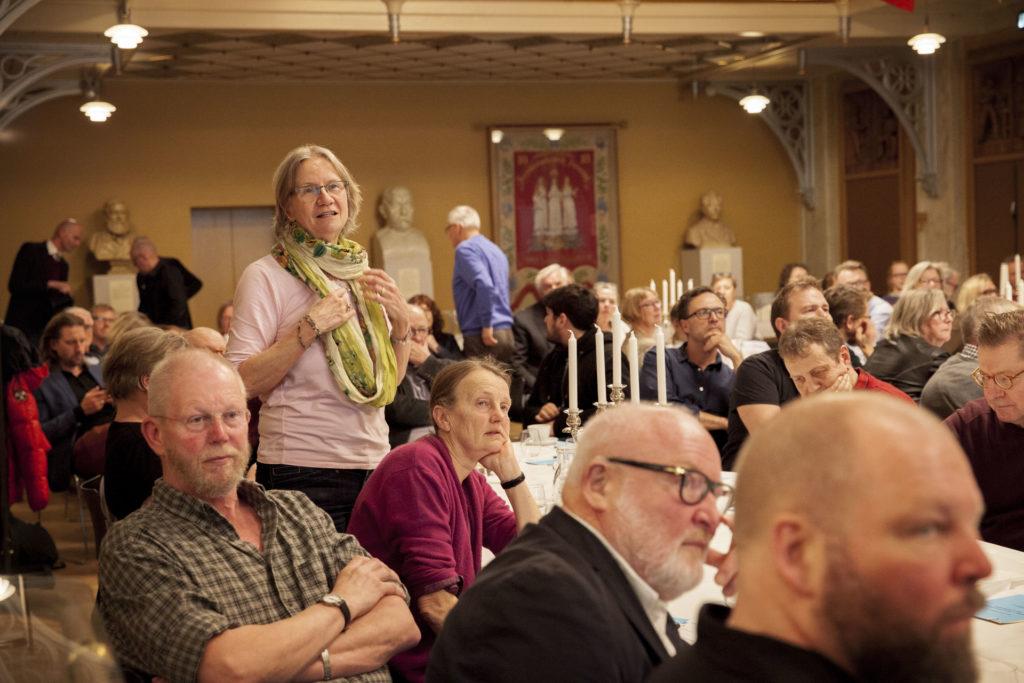Spørgsmål fra salen til gennemgangen af regnskabet. Foto: Anette Sønderby Madsen