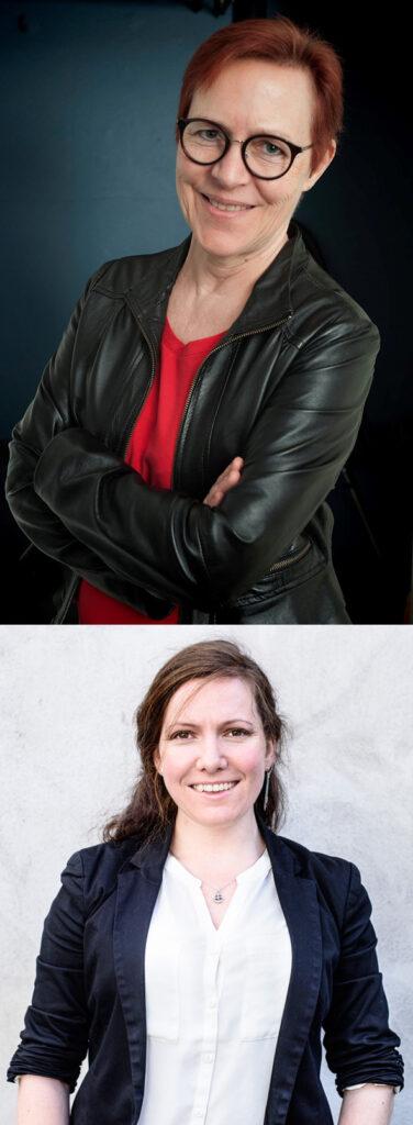 Karen Hedegaard, selvstændig grafisk designer og Freja Wedenborg, journalist og forfatter til bogen Cryptoguide for journalister / Fotos af hhv.: Jens Otto Emmich & Andrea Sigaard