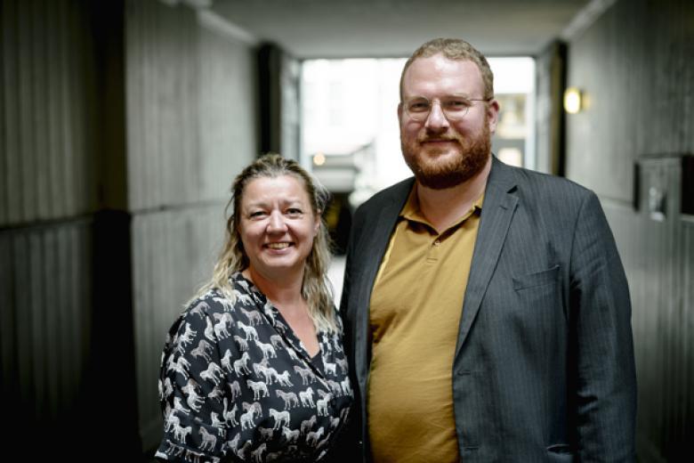 Formand Tine Johansen og næstformand Jakob Ponsgård / Foto: Rasmus Degnbol