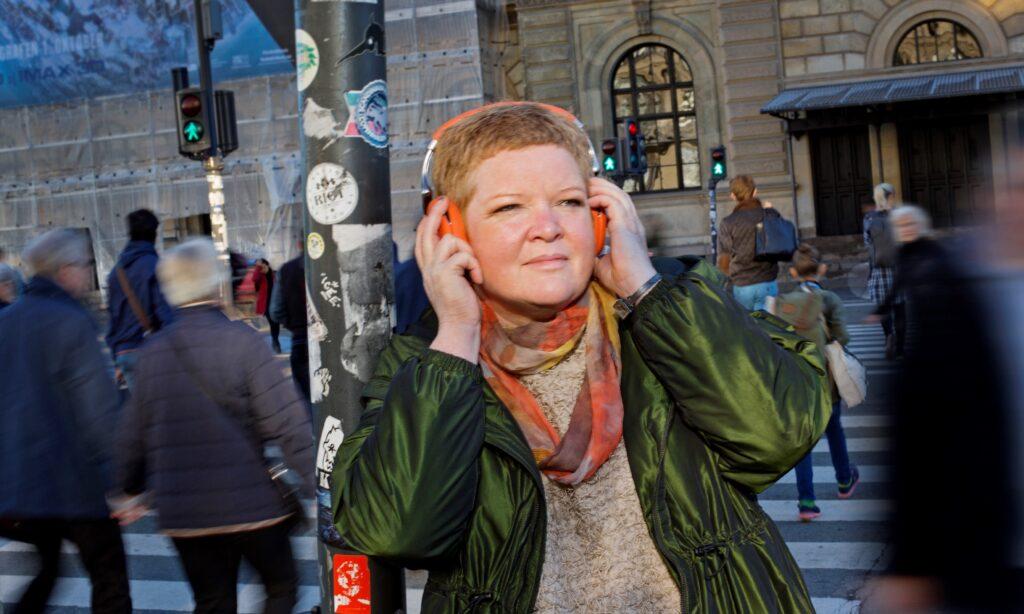 Selvstændig radio- og podcastproducent og halvtids journalistisk lektor på SDU Susanna Sommer. Fotograf: Agnete Schlichtkrull