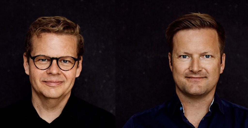 Foto: Tidligere politisk redaktør på TV2, Anders Langballe og journalist Martin Flink. Fotos: Thomas Howalt Andersen